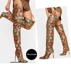 PRETTY LITTLE THING Thigh High Boots New
